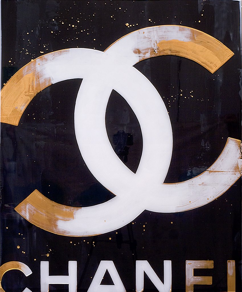 Chanel: Black & Gold 30x36 - SOLD